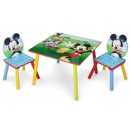 Mesa con 2 sillas Mickey mouse