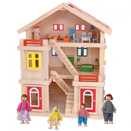 Casita madera 3 pisos