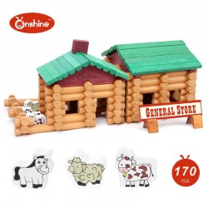 Cabaña granja de madera Armable 170 piezas