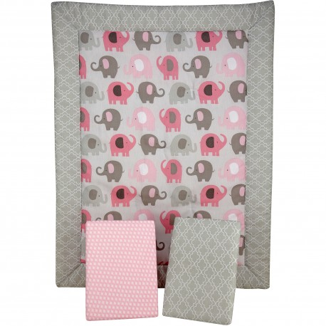 Set de ropa de cuna 4 piezas Elephant time