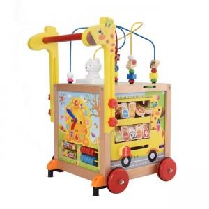 Caja motricidad multifuncional y caminador jirafa
