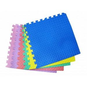 Alfombra goma eva 6 piezas de colores surtidos 60x60cmx12mm