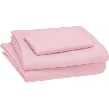 Sabanas rosa suave 100% algodón 200 hilos para cunas y camas de transicion