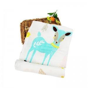 Manta Envolver Muselina 100% algodón 120x120 Ciervo