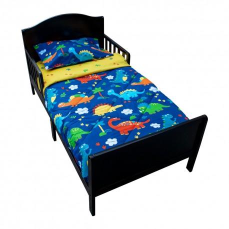 Set para cama de transición Niño Dinosaurios de 4 piezas Pellitos