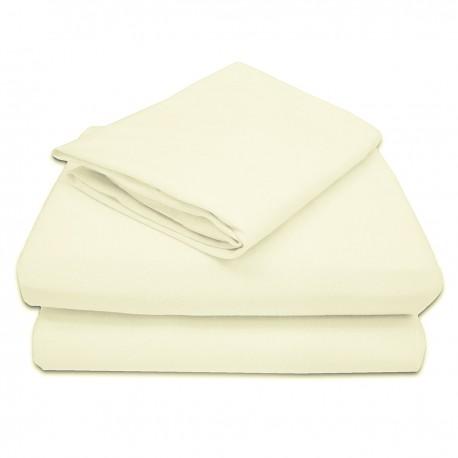 Sabanas beige 100% algodón 200 hilos para cunas y camas de transicion