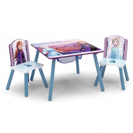 Mesa con 2 sillas frozen 2
