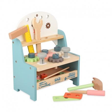 Banquillo de herramientas de madera