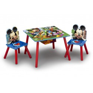 Mesa con 2 sillas Mickey mouse