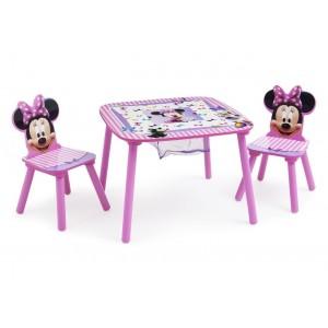 Mesa con 2 sillas Minnie con canasto