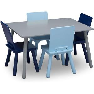 Mesa para niñps con 4 sillas gris