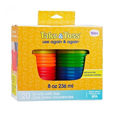 Pack 20 contenedores alimentos 236CC Take & toss