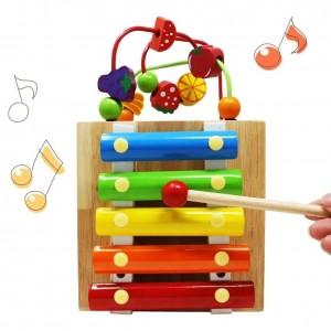 Caja Didáctica Con Xilófono y actividades Multifuncionales